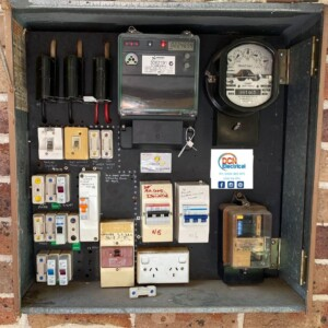 electrical switchboard from Sydney home
